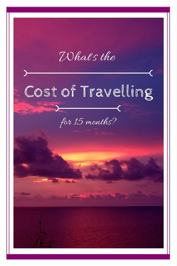 What's the cost of travelling for 15 months?