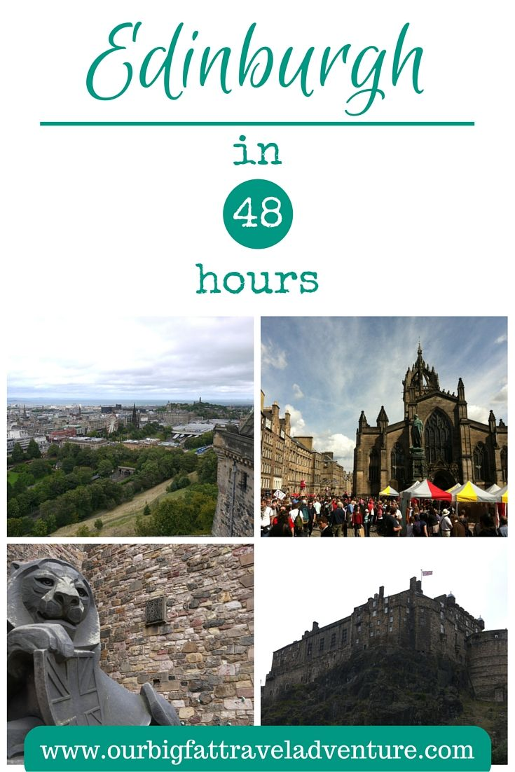 Edinburgh in 48 hours, Pinterest