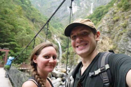 Us at Taroko Gorge in Taiwan