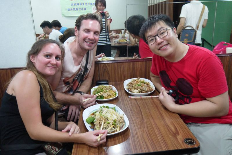 Us with Couchsurfing Host Jackie in Taipei