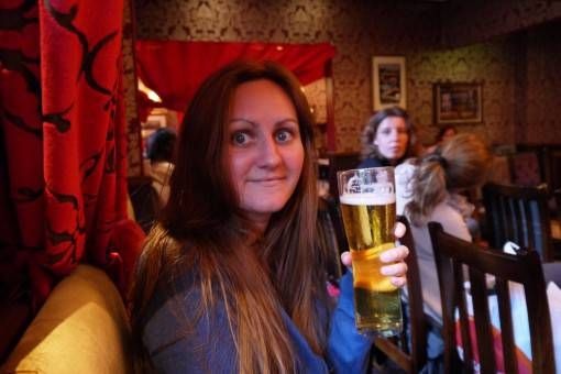Me at The Beehive Pub in Edinburgh