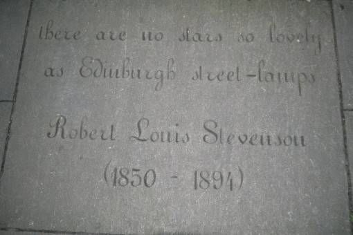 Robert Louis Stevenson Quote in Edinburgh