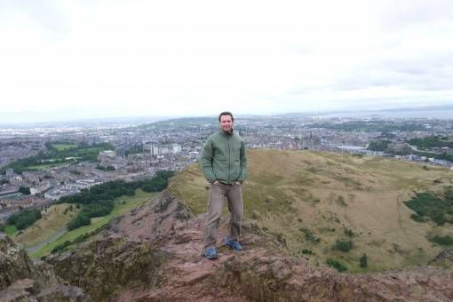 Andrew on Arthur's Seat