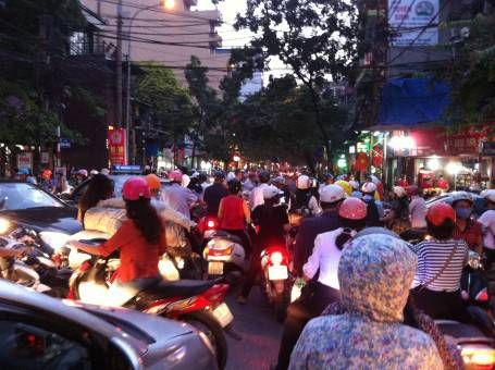 Rush hour in Hanoi, Vietnam