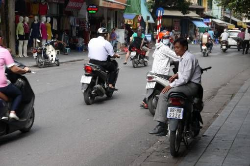 Motorbike taxi waiting for passengers