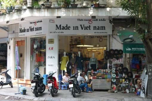 Made in Vietnam shop on every corner in Hanoi