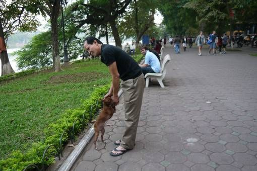 Vietnamese Dog Walker in Hanoi