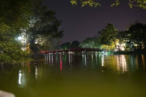 Huc Bridge, Hoan Kiem Lake Hanoi