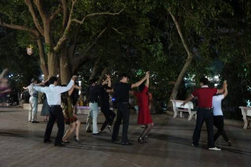 A Dance Class at Hoan Kiem Lake in Hanoi