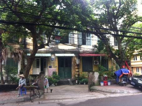 Old French colonial buildings in our neighbourhood in Hanoi