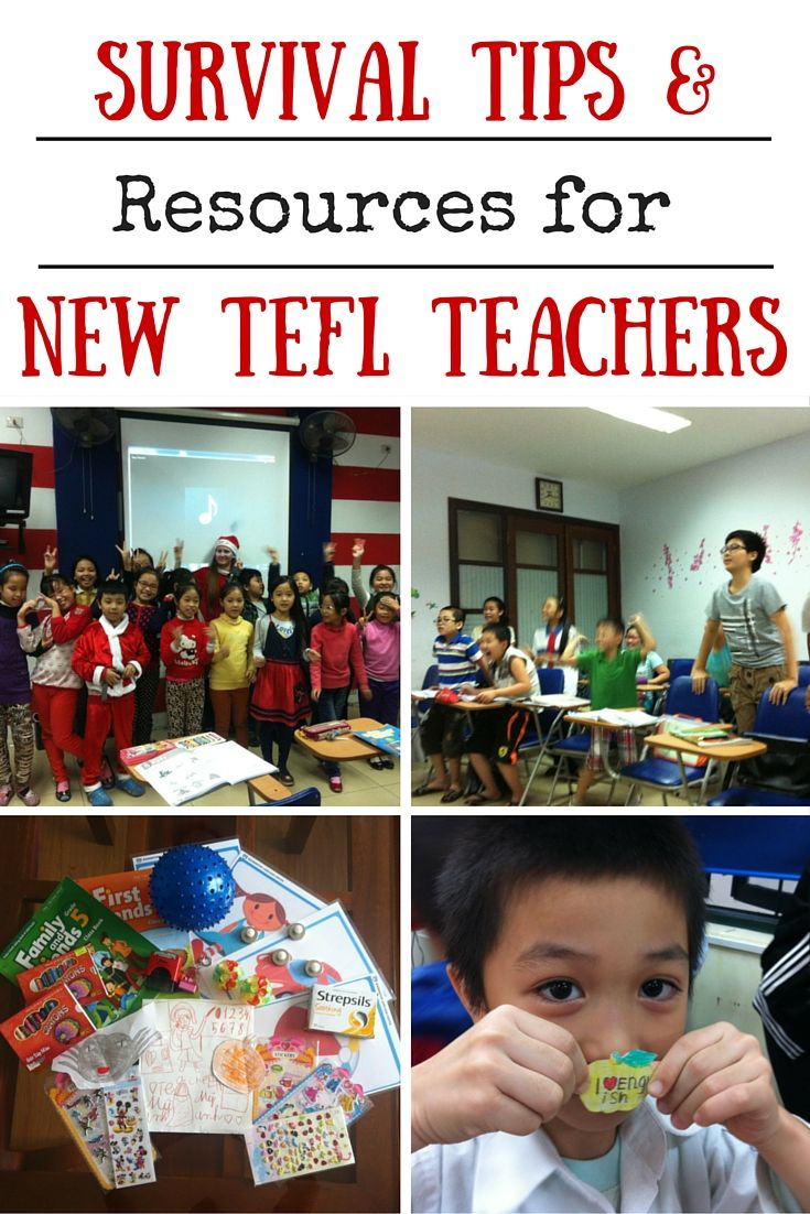 Survival Tips & resources for new tefl teachers