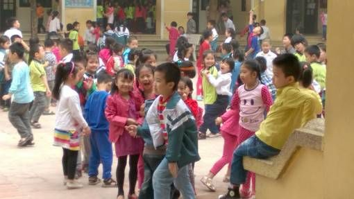 Kids at a Vietnamese Public School