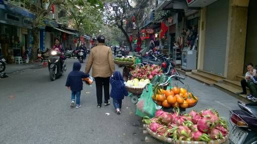 A street in the Old Quarter of Hanoi