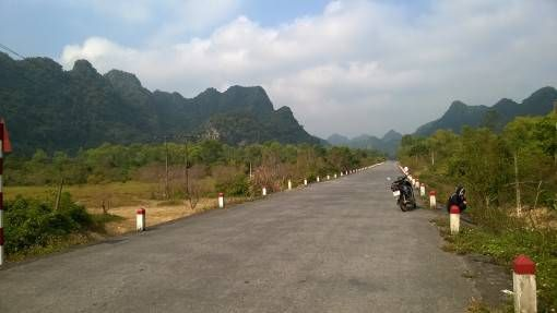 Road on Cat Ba Island, Vietnam