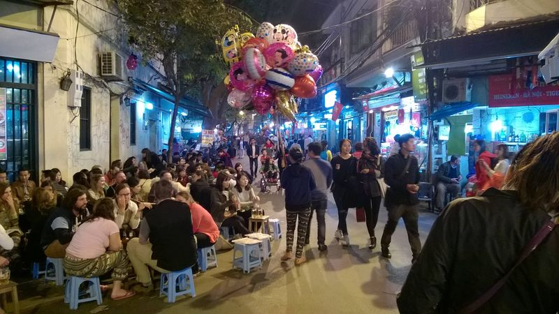 Hanoi's Old Quarter at night