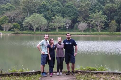 Andrew, me, Jo and Bonner at Cuc Phuong National Park