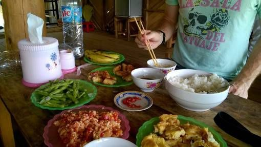 Filling Vietnamese lunch on our Sapa trek