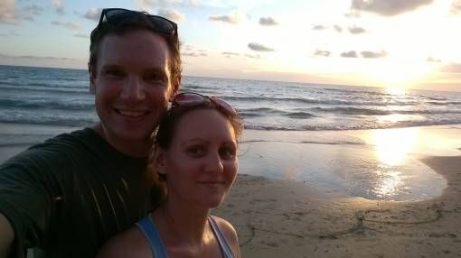 Us on White Sand Beach, Koh Chang