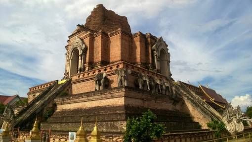 Temple at Wat Chedi Luang in Chiang Mai