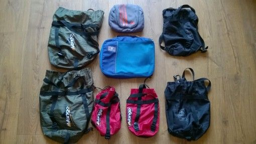 Compression bags for travel packing