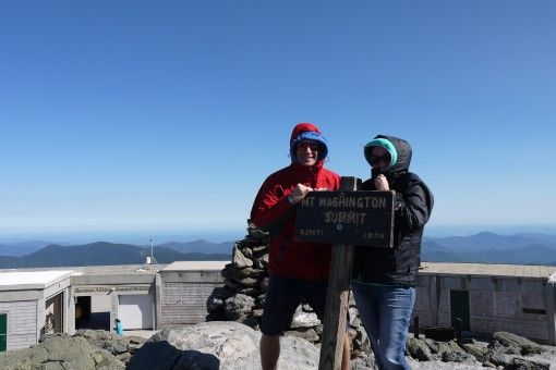 At the summit of Mt Washington