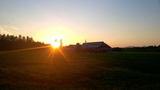 Sunset over the farm, New Hampshire