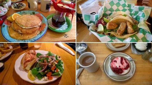 Delicious food in Bar Harbor