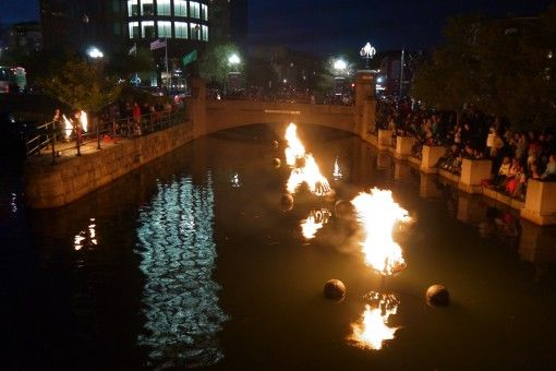 WaterFire in Providence, Rhode Island