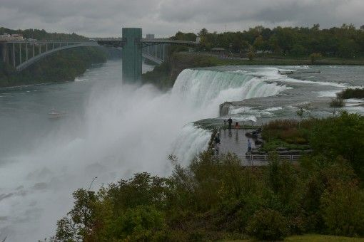 The American Falls, Observation Deck and Friendship Bridge, Niagara Falls