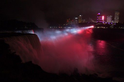 The nightly illuminations of Niagara Falls