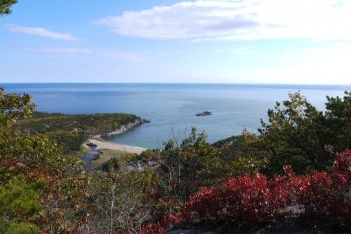 View of Sand Beach from the Beehive Summit
