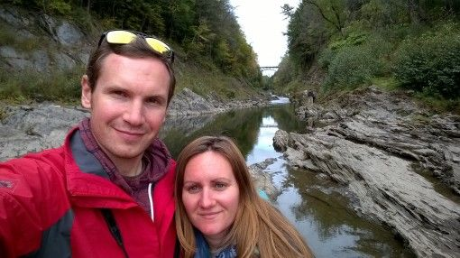 Us at Quechee Gorge, Vermont