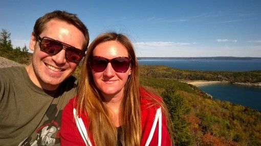 Us at the Top of Gorham Mountain in Acadia National Park