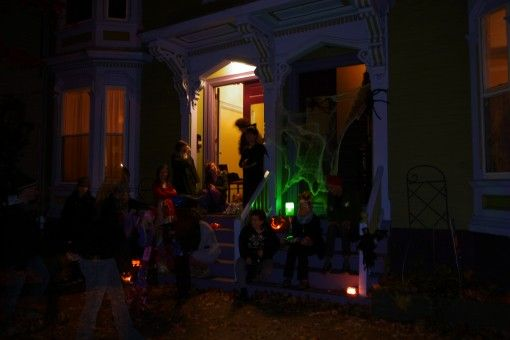 Locals celebrating Halloween in Portland
