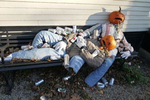 Pumpkin People: Halloween Decorations in New England