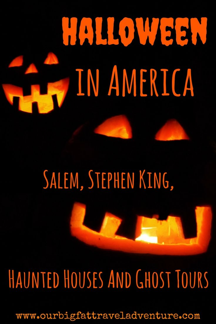 Halloween in America - Salem, Stephen King, Haunted Houses And Ghost Tours, Pinterest