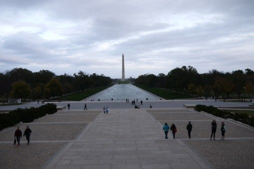 Reflecting Pool and Washinton Monument in Washington DC