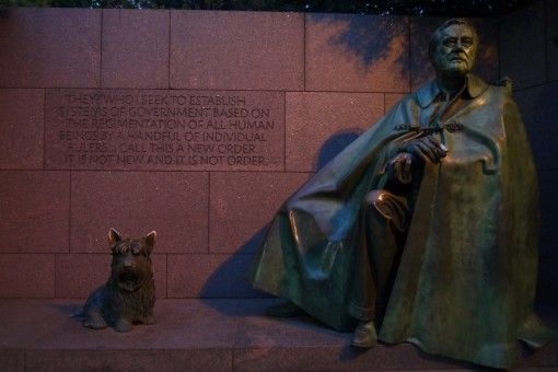 Franklin Roosevelt Memorial in Washinton DC