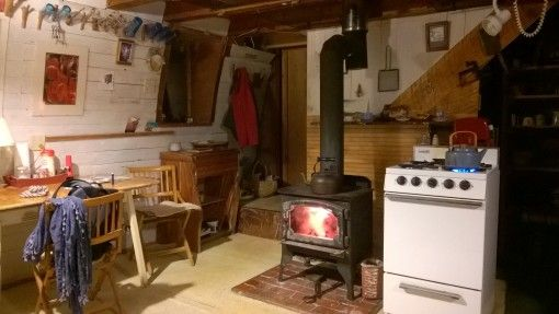 Our only heating: a log burner and an oven