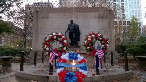War memorial in Washington Square, Philadelphia