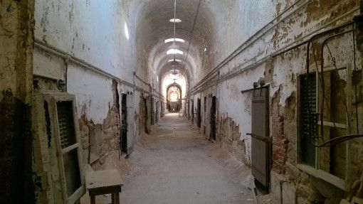 Empty ward in the Eastern State Penitentiary, Philadelphia