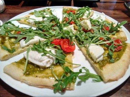 Flat Bread Pizza from The Four Lions Brewery in Leon