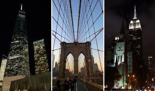 One World Trade Center, Brooklyn Bridge, Empire State Building, New York
