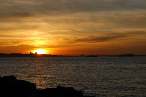 Sunset from Redhook, Brooklyn