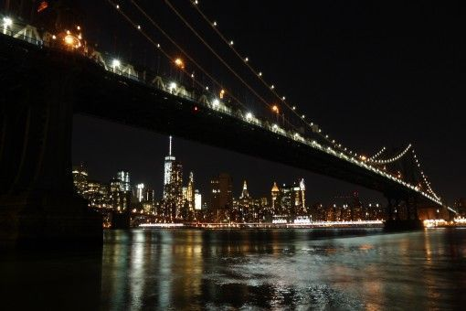 The Manhattan Skyline by night