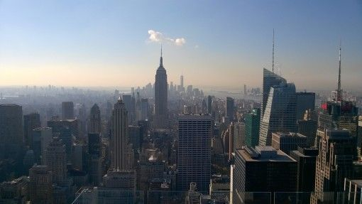 View of downtown Manhattan from the Rockefeller Building