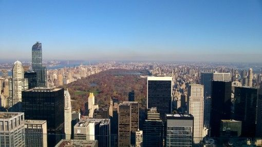 View of Central Park from the Rockefeller Building