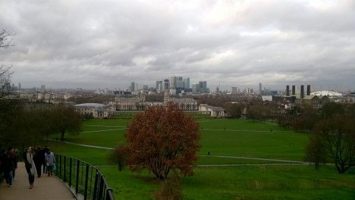 The View from the Top of Greenwich Park