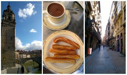 Bilbao streets and chocolate con churros
