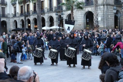 Devil Drummers at the Santa Eulalia Fiesta in Barcelona, Spain